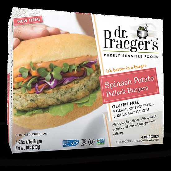 Dr Praeger's® Spinach Potato Pollock Burgers