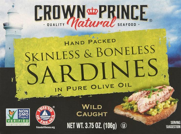 Crown Prince® Skinless & Boneless Sardines in Oil