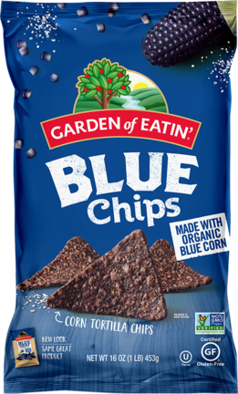 Organic Blue Corn Chips - 16oz