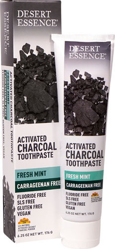 Desert Essence® Activated Charcoal Fresh Mint Toothpaste