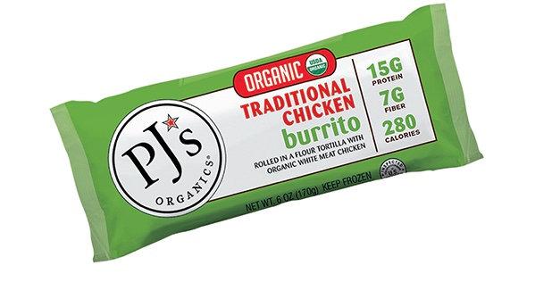 PJ's Organics® Traditional Chicken Burrito