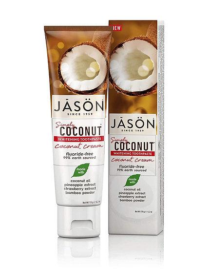 Coconut Cream Flouride-Free Toothpaste