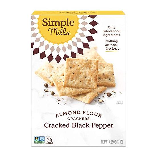 Almond Flour Cracked Black Pepper Crackers