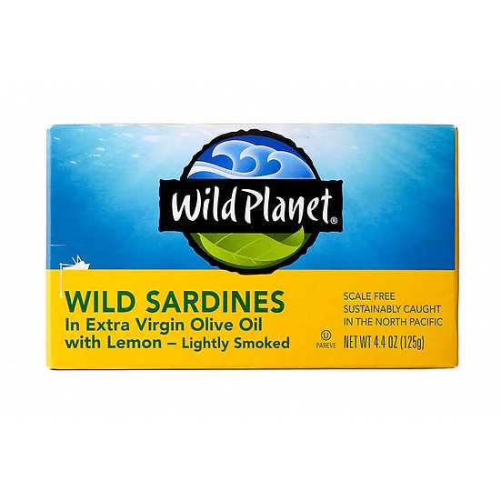 Wild Planet® Smoked Sardines in EVOO with Lemon