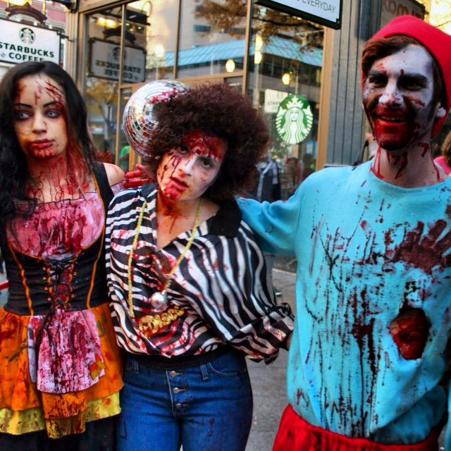 Throwback_ Zombie crawl two years ago!_) One of my favorite make-shift costumes