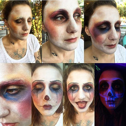 Make-up progression of the clown I didfor my short horror film, Funhouse.💋💀