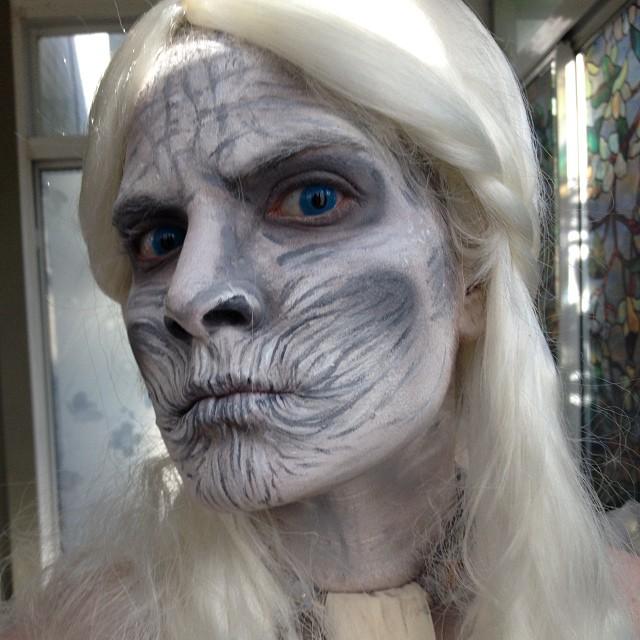 Zombie crawl as White Walker Daenerys Targaryen!_) #nofilter #gameofthrones #zombie #zombiecrawl #ha