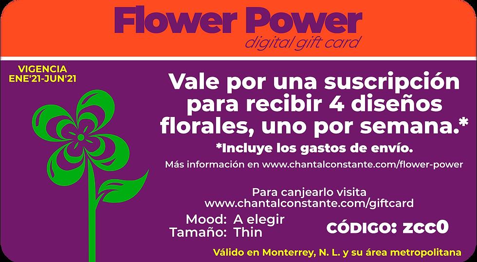 Flower Power Digital Gift Card Thin