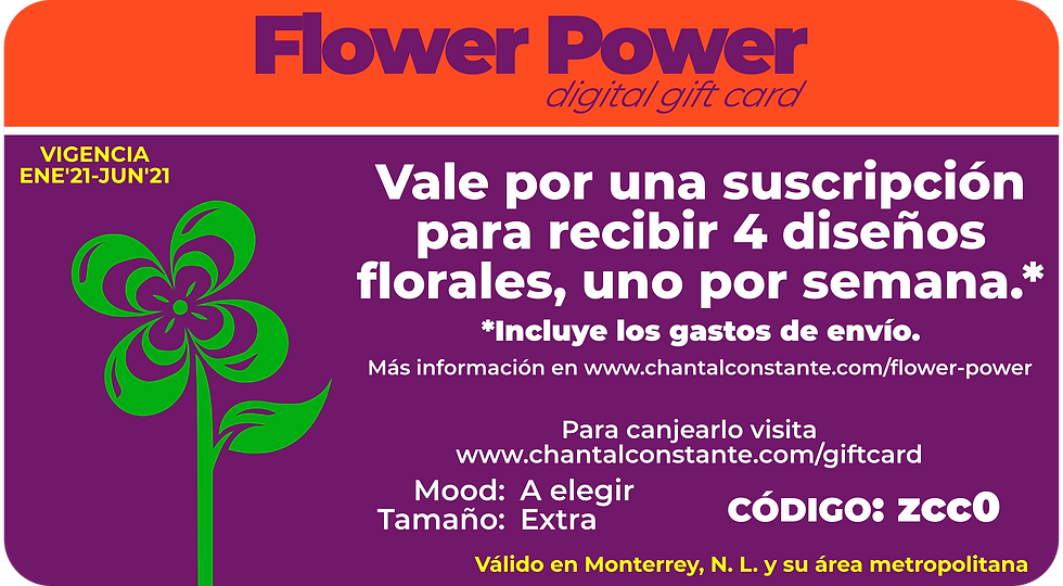Flower Power Digital Gift Card Extra