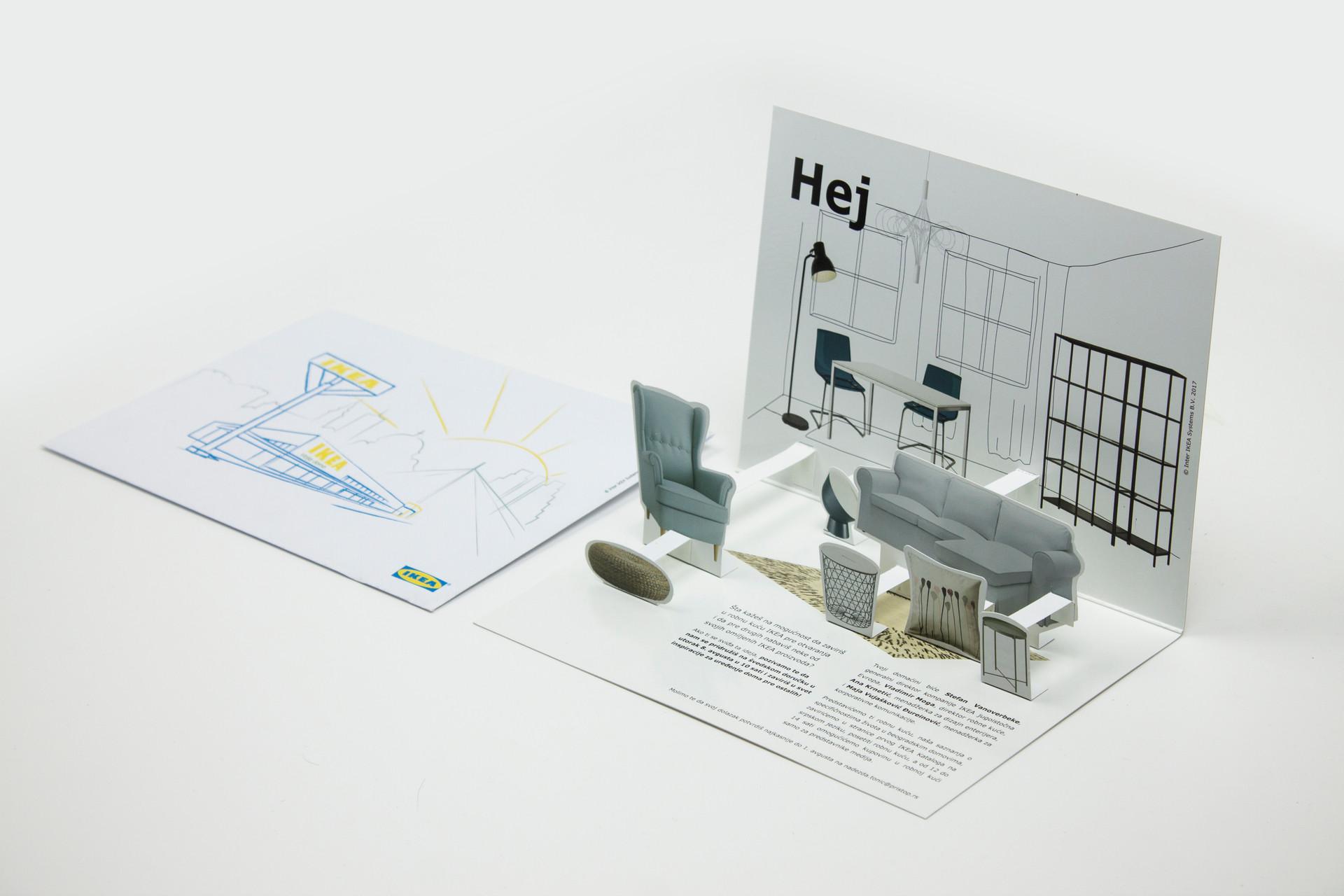 IKEA Belgrade Store Opening 3D Invitation