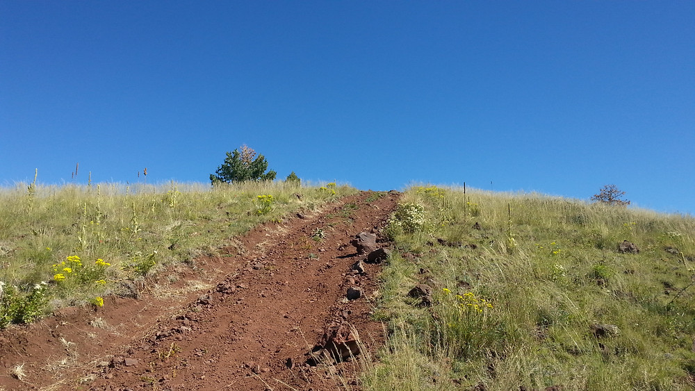 Road to the top of the false summit.