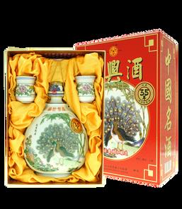 35年紹興酒(孔雀瓶禮盒)680ml