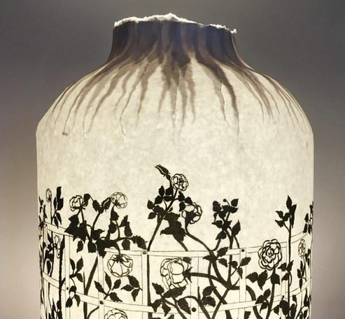 lampe bouteille roseraie