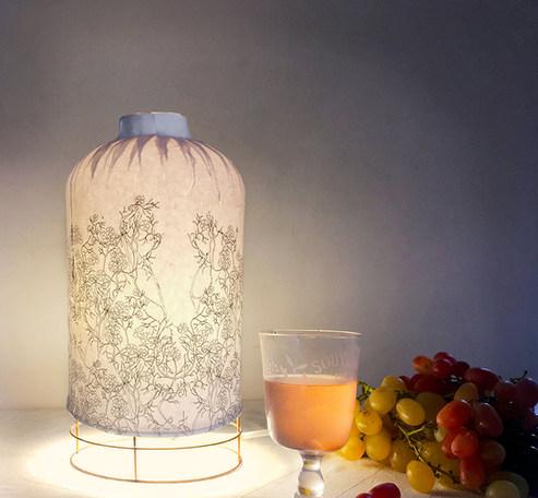 lampe bouteille printemps