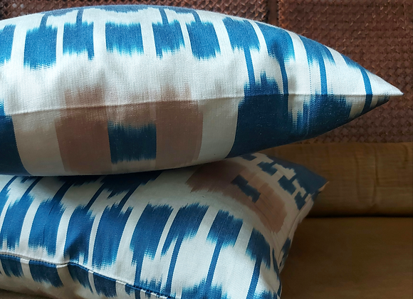 Indigo Ikat Pair of Cushions