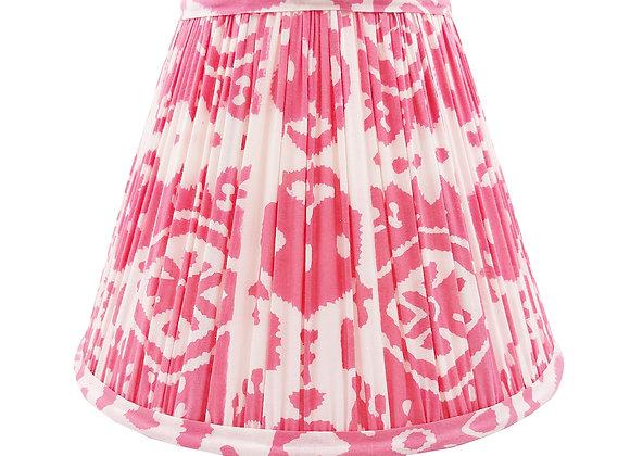 25cm Rosa Ikat Cotton Gathered Lampshade