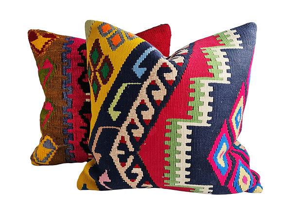Kilim Cushion Pair - Dance & Diva