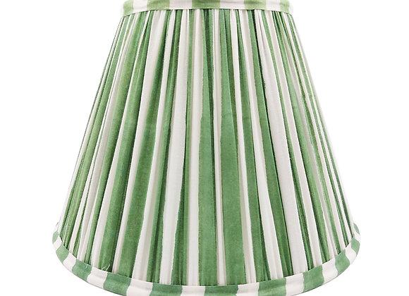 25cm Olive Stripe Cotton Gathered Lampshade