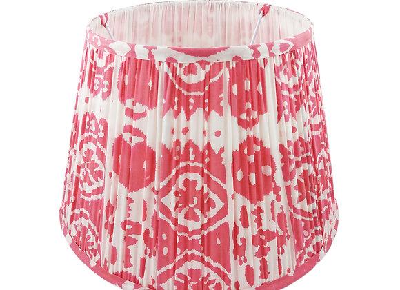 35cm Rosa Ikat Cotton Gathered Lampshade