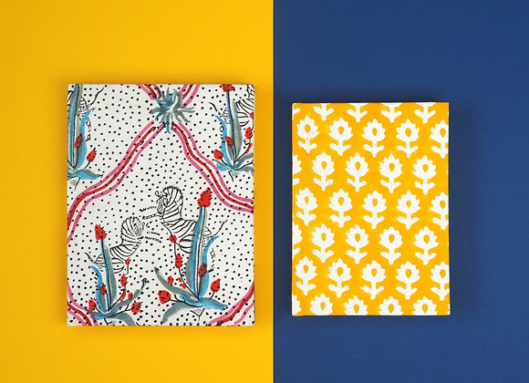 Equus Star & Yellow Meadow Fabric Notebook Gift Set