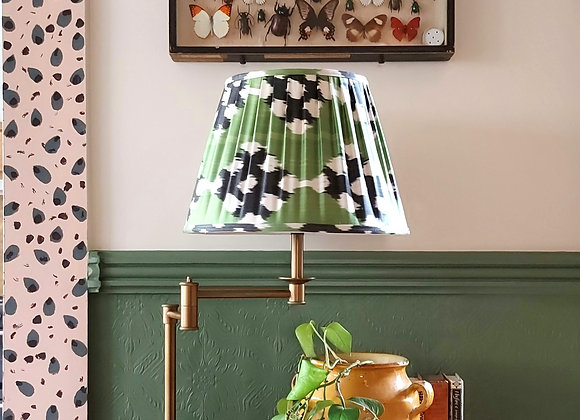 Pleated Calm & Antique Brass Swing Table Lamp