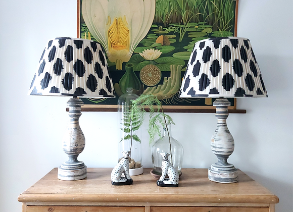 Monochrome Spot with Antique Grey Lamp Base