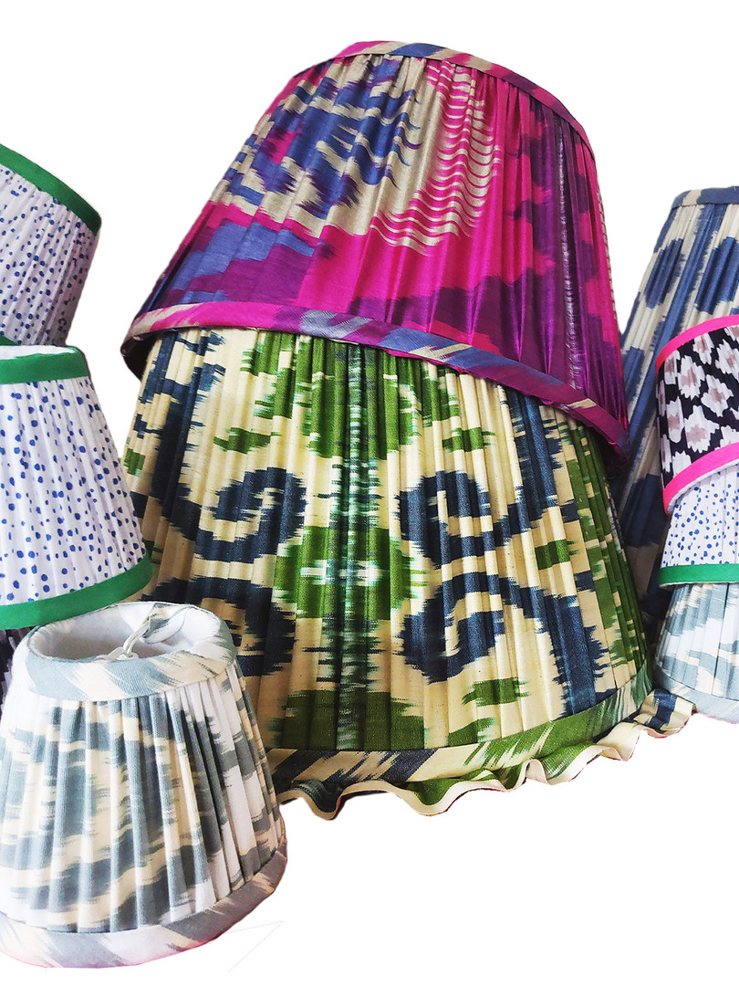 Handmade Gathered Lampshades To Compliment Interior Design Schemes