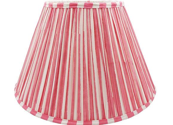 40cm Penelope Pink Stripe Cotton Gathered Lampshade