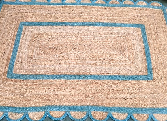 Azure Scallop Rug
