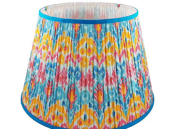 45cm Manuel Ikat Cotton Gathered Lampshade