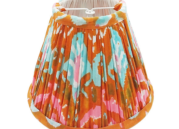 Candle Clip Ibizia Ikat Cotton Gathered Lampshade