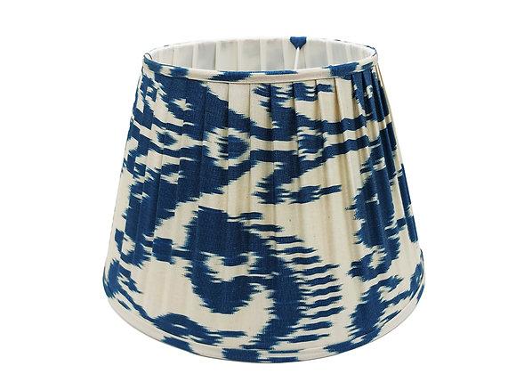 40cm Indigo Silk Pleated Lampshade