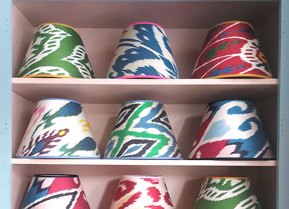 Silk Ikat Conical Lampshade 30 cm