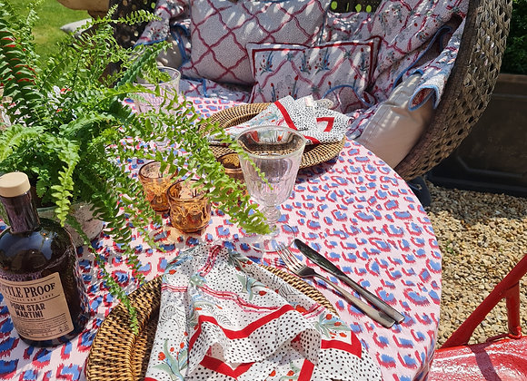 Dusty Round Table Cloth 100% Cotton