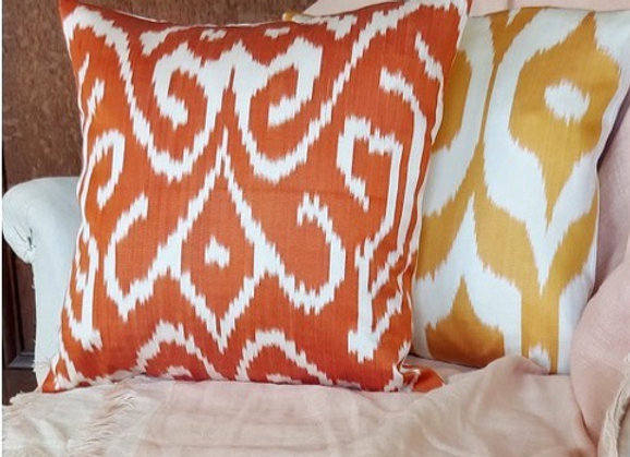 Spicy Ikat Cushion