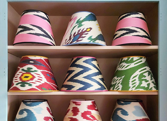 Silk Ikat Conical Lampshade 30cm