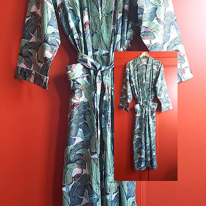 Botanical Cotton Robe / Dressing Gown