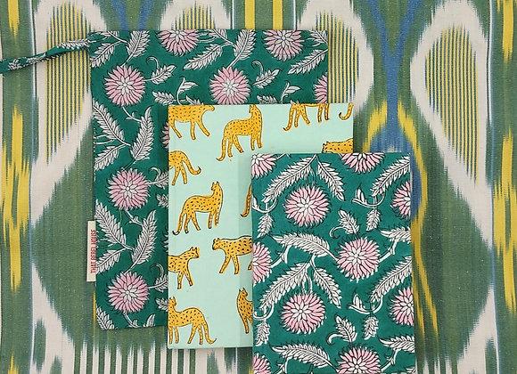 Notebook Gift Set - Sky Kotiya & Green Xanthe