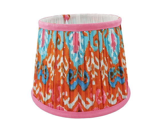 20cm Ibizia Ikat Cotton Gathered Lampshade