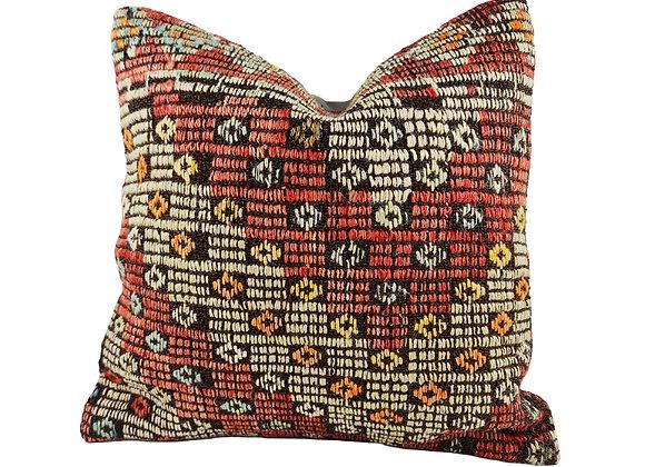 42cm Whimsical Kilim Cushion