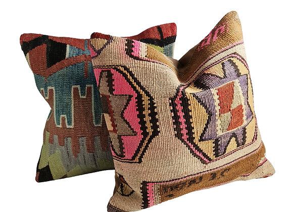Kilim Cushion Pair - Aly & Astro