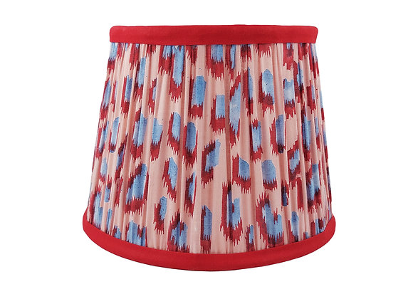 20cm Dusty Spirit Cotton Gathered Lampshade with Ruby Trim