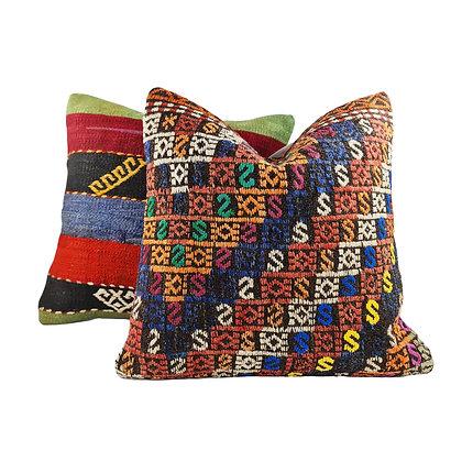 Kilim Cushion Pair - Cairo & Cat