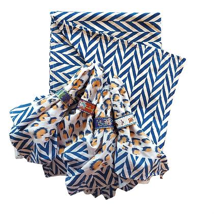 Celebration Magpie Table Cloth & Napkin Set