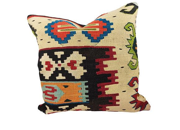 42cm Heart Kilim Cushion