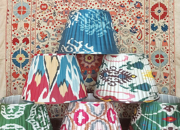Large Silk 45cm Pleated Lampshades