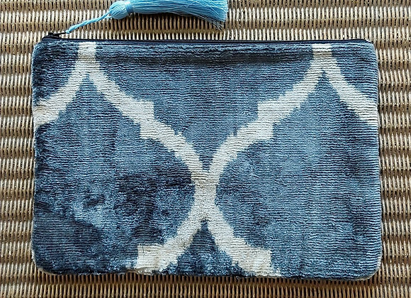 Cloud Velvet Ikat Clutch