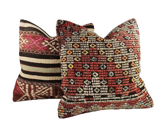 Kilim Cushion Pair - Whimsical & Prosper