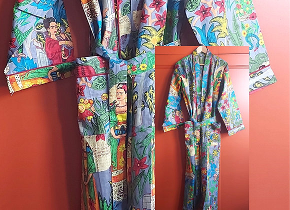 Frida Cotton Robe / Dressing Gown