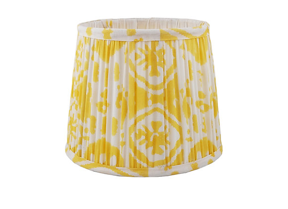 20cm Soleil Ikat Cotton Gathered Lampshade